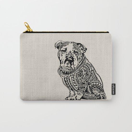 Polynesian English Bulldog Carry-All Pouch