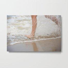 Running on the beach Metal Print