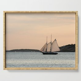 Sunset Sail Serving Tray