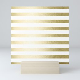 Simply Striped Gilded Palace Gold Mini Art Print