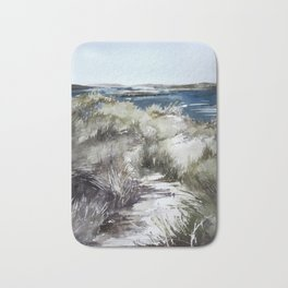 Cold seashore grass Bath Mat