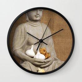 Kivi coffee beans garlic Physalis Snail Shell Buddha Wall Clock