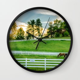 Sunrise on the Ranch Wall Clock