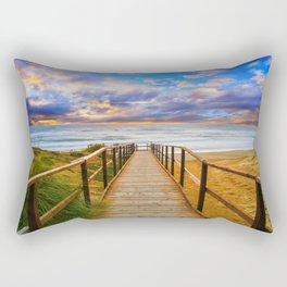 Bridge to Paradise Rectangular Pillow