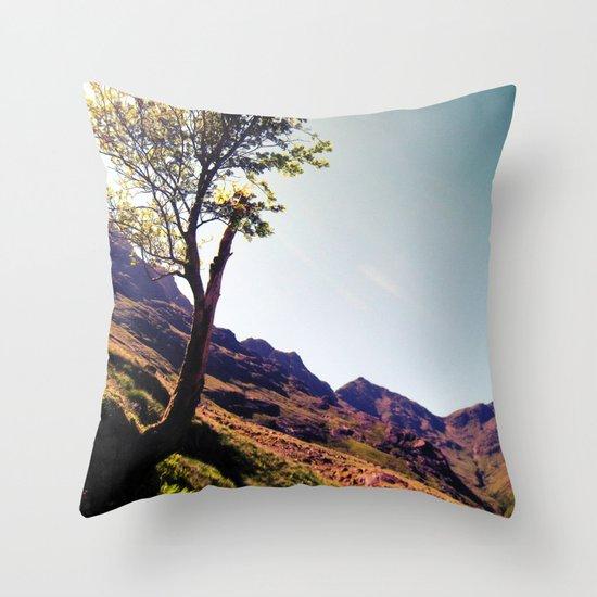 tree side. Throw Pillow