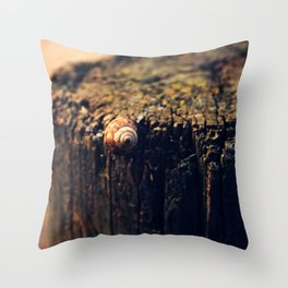 Once there was a little snail Throw Pillow