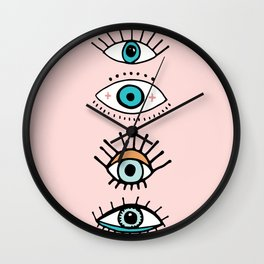 eye illustration print Wall Clock