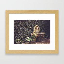 Ivy Wall in Charleston, SC Framed Art Print