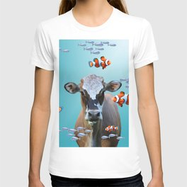 Costa Rica Cow - Clownfishes Collage underwater T-shirt