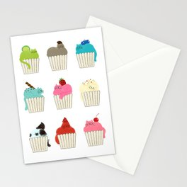Cup-Cat Flavors Stationery Cards