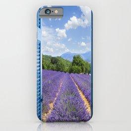 wooden shutters, lavender field iPhone Case