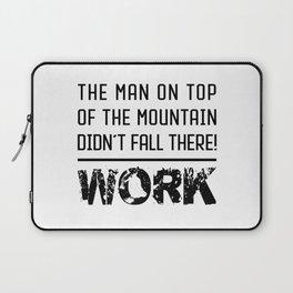 Work - Hustle Motivation for Entrepreneurs Fitness Trainer And Bodybuilder Laptop Sleeve