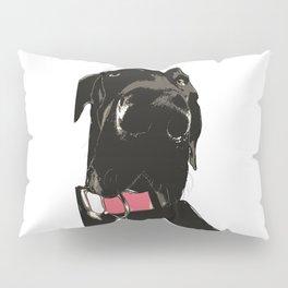 Great Dane Dog (black-pink collar) Pillow Sham