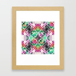 Bright Colorful Pattern Art - Color Fusion Design 10 By Sharon Cummings Framed Art Print