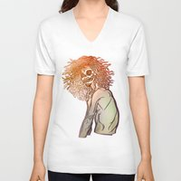 medusa V-neck T-shirts featuring MEDUSA by BABA-G | arts and crafts
