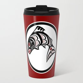 Northwest Pacific coast Haida art Salmon Travel Mug