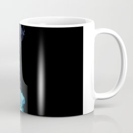 Pale Blue Rose - Smoke skull Coffee Mug