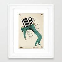hip hop Framed Art Prints featuring Hip-Hop by Mariana Baldaia
