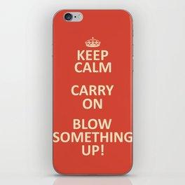 Keep Calm...Destroy! iPhone Skin