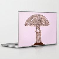 mushroom Laptop & iPad Skins featuring Mushroom by Rahmah J Raines