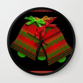 Christmas Bells Wall Clock