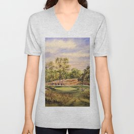Merion Golf Course 17th Hole Unisex V-Neck