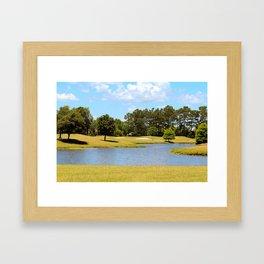 Golf Course Beauty Framed Art Print