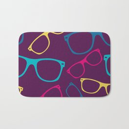 glasses Seamless pattern retro sunglasses Bath Mat
