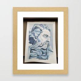 Neptune in Blue Framed Art Print