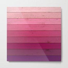 Purple Wood Metal Print