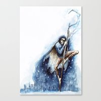 jack frost Canvas Prints featuring Jack Frost by Ines92
