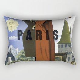 Vintage Travel Poster- Paris,France Rectangular Pillow