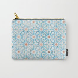 Hara Tiles Light Blue Carry-All Pouch