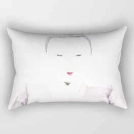 Japanese Emperor Doll Photograph Rectangular Pillow