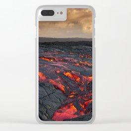 Kamukona (61g) Lava on the Big Island, Hawaii Clear iPhone Case