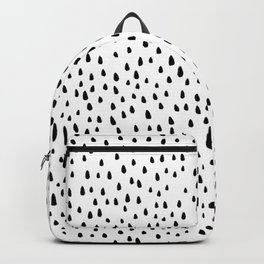 Paint Drops on White Backpack