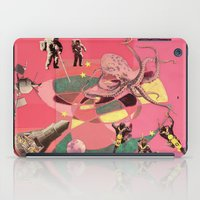 outer space iPad Cases featuring outer space meanderings by julia mary grey