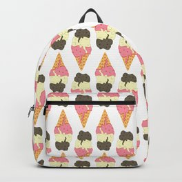Strawberry-Vanilla-Chocolate Ice Cream Sundae Backpack