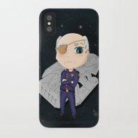 battlestar galactica iPhone & iPod Cases featuring Colonel Tigh 2 | Battlestar Galactica by The Minecrafteers