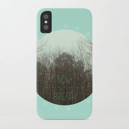 NOW BREATH (WINTER) iPhone Case
