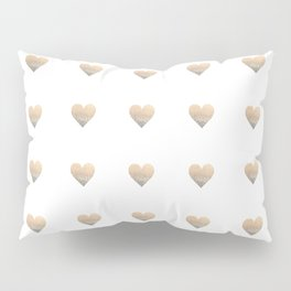 GOLD HEART Pillow Sham