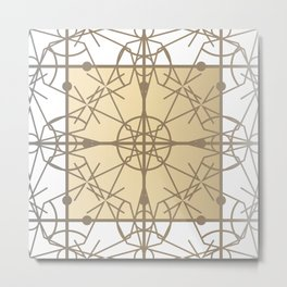 Chic Deco Gilded Filigree Metal Print