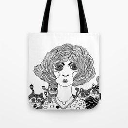 MadameChat Tote Bag
