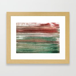 Axolotl abstract watercolor Framed Art Print