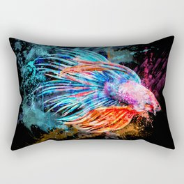 Fighter Fish Rectangular Pillow