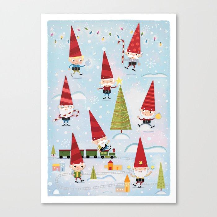 Christmas Gnomes.Christmas Gnomes Canvas Print By Kmeyer