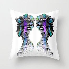 Royal Graffiti Throw Pillow