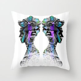 Royal Graffiti Throw Pillow