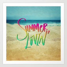 Summer Lovin' x Hawaii Art Print