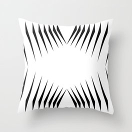 triangles with eyes Throw Pillow